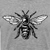 Honey Bee Two-Color Black&White - Maglietta Premium da uomo