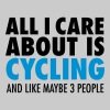 All I Care About Is Cycling... - Mannen Premium T-shirt