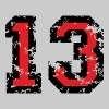 The Number Thirteen - No. 13 (two-color) red - Men's Premium T-Shirt