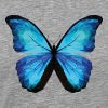 BUTTERFLY POLYGON in blue - Men's Premium T-Shirt