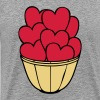 heart, love, Erotk, sex, hearts, red, vase, flat, in love, wedding, marry, to pair, marriage, LOVE, affair, gift, packing, grow, children, child, parents, father, mother, mother day  - Men's Premium T-Shirt