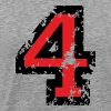 The Number Four - No. 4 (two-color) red - Men's Premium T-Shirt