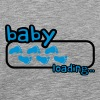 Baby Boy Loading Footprints Logo - Men's Premium T-Shirt