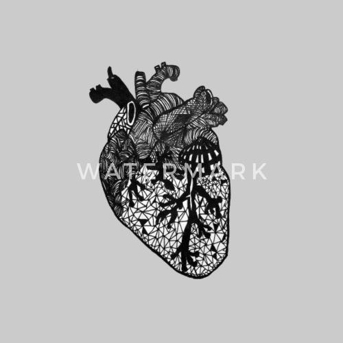 Herz, Anatomie, Zentangle von Samysticle | Spreadshirt