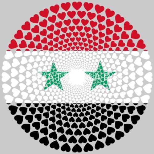 Syrie Syrie Love Mandala de coeur de FAMORI | Spreadshirt