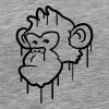Cool monkey head graffiti - Men's Premium T-Shirt