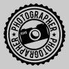 Photographer Stamp Logo - Men's Premium T-Shirt