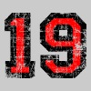 Number 19 number nineteen 19th birthday nineteenth - Men's Premium T-Shirt