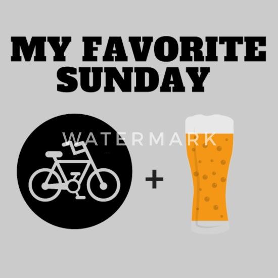 MY FAVORITE SUNDAY T skjorte Øl og sykkel Premium T skjorte