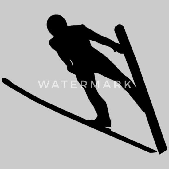 Skispringer Skifahrer Skispringen 15cm 20cm 28cm Aufkleber Auto Wandtattoo 95