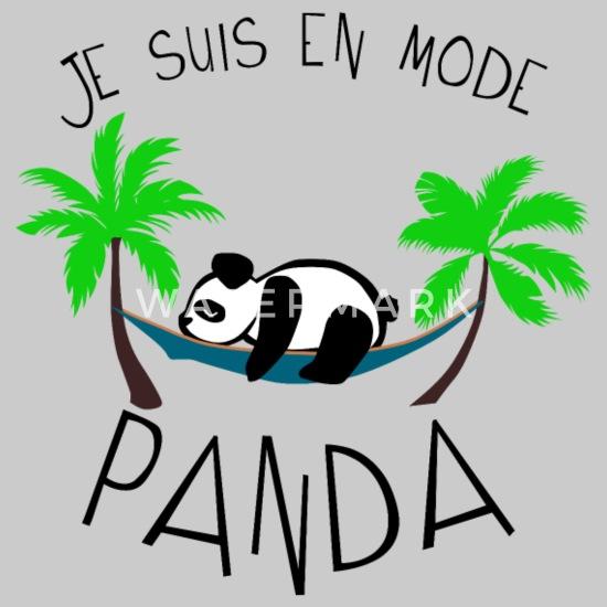 Citation Humour Mode Panda Dort Dormir Drole 2102 T Shirt Premium Homme Gris Chiné