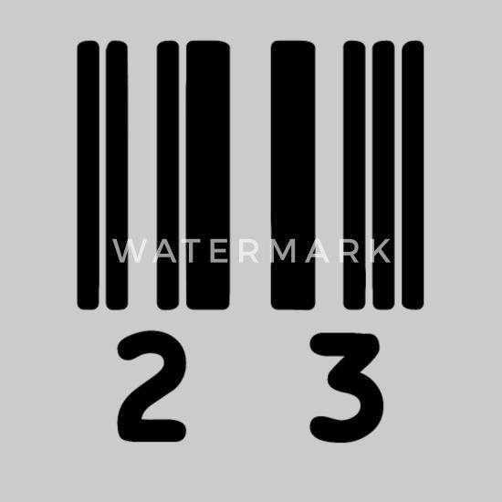 Código De Barras 23 El Número Natural Entre 22 Y 24