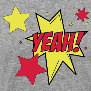 Comic Style Yeah ! Star Sterne Cartoon 3c - Männer Premium T-Shirt