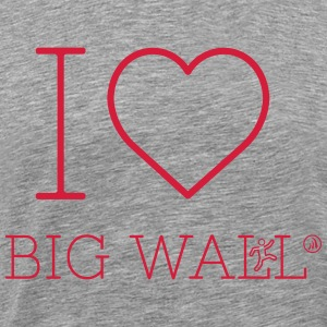 I love Big Wall - Men's Premium T-Shirt