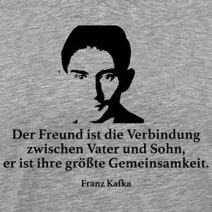 Kafka: The friend is the connection between Vat - Men's Premium T-Shirt