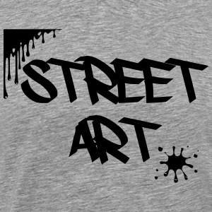 street art - Premium T-skjorte for menn