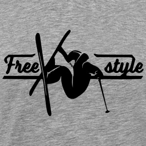 Freestyle Skiing - Herre premium T-shirt