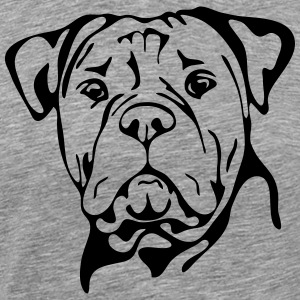 OLD ENGLISH BULLDOG PORTRAIT - T-shirt Premium Homme