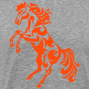 tribal hest pied opstand - Herre premium T-shirt