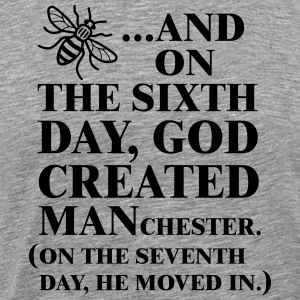 GOD CREATED MANCHESTER - T-shirt Premium Homme