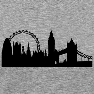 London silhouette 2 - Premium T-skjorte for menn