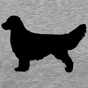GOLDEN RETRIEVER Silhouette - Premium T-skjorte for menn