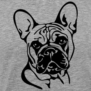 FRENCH BULLDOG PORTRAIT - Men's Premium T-Shirt