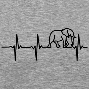 My heart beats for elephants - Men's Premium T-Shirt