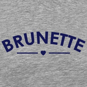 brunette - Premium T-skjorte for menn
