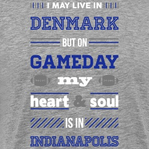 I may live in Denmark... (Indianapolis edition) - Herre premium T-shirt