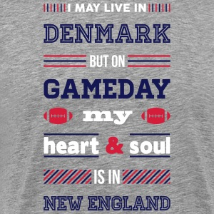 I may live in Denmark... (New England edition) - Herre premium T-shirt