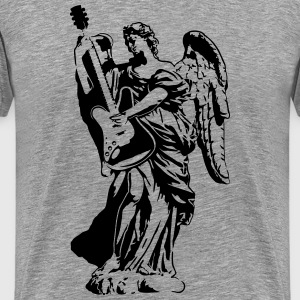 Angel with guitar. 1 color. Festivals2017 - Men's Premium T-Shirt