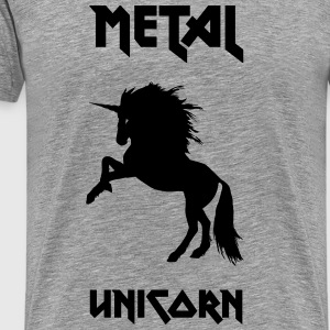 Metal Unicorn - Premium T-skjorte for menn