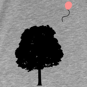 Tree with balloon - Men's Premium T-Shirt