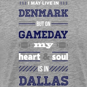 I may live in Denmark... (Dallas edition) - Herre premium T-shirt