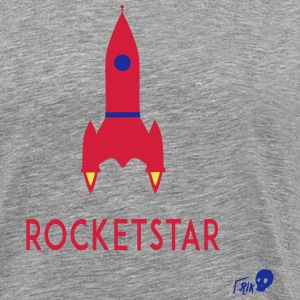 ROCKET STAR - Herre premium T-shirt