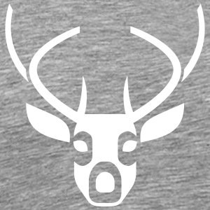 Head And Antlers Of A Deer - T-shirt Premium Homme
