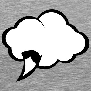 Comic Speech Bubble - Mannen Premium T-shirt