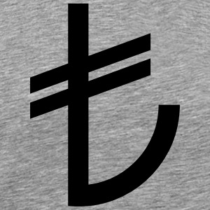 Turkse Lira Currency TL - Mannen Premium T-shirt