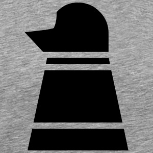 Chess Black Bishop - Herre premium T-shirt
