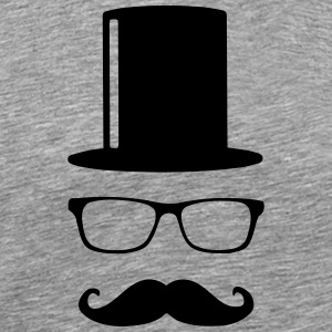 Like a Sir Mustache Mustache beard mustache - Men's Premium T-Shirt