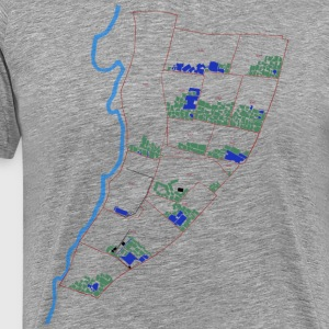 Tetris Map (Jabalya) COLOR - Men's Premium T-Shirt