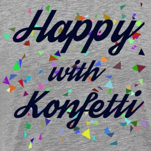 Happy with confetti - Men's Premium T-Shirt