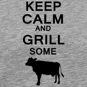 keep calm and grill some cows - Männer Premium T-Shirt