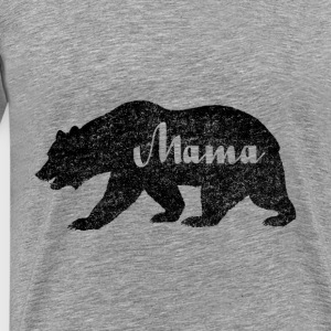 Mama Black Bear Camping. Camping Lover - Men's Premium T-Shirt