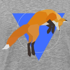 Geometric Fox Jumping - Men's Premium T-Shirt