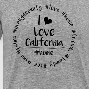 Ik hou van Californië - Orange County - Mannen Premium T-shirt