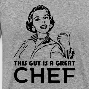 Chefs gifts. Retro/Vintage Chef Style. Motivationa - Men's Premium T-Shirt