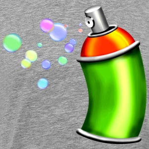 Spray can with soap bubbles - Men's Premium T-Shirt