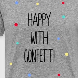 Happy with Confetti - Männer Premium T-Shirt
